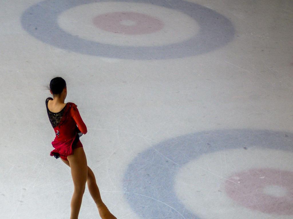 Ice skating on frozen ponds